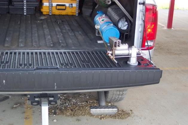 Great for stepping onto bumper, or reaching over tailgate.